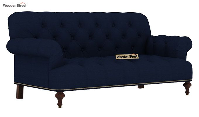 Allison 2 Seater Sofa (Fabric, Indigo ink)-1