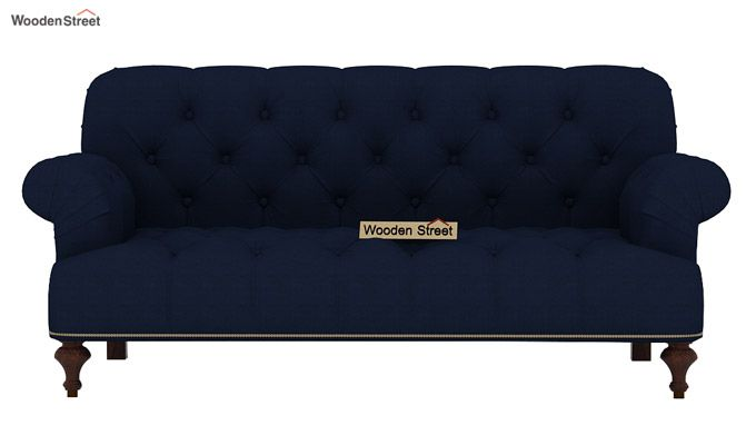 Allison 2 Seater Sofa (Fabric, Indigo ink)-2