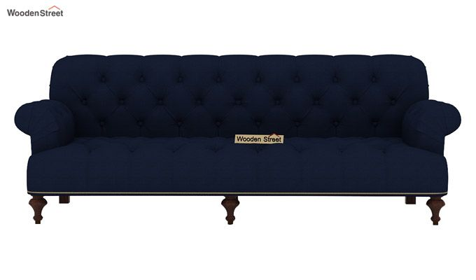 Allison 3 Seater Sofa (Fabric, Indigo Ink)-2
