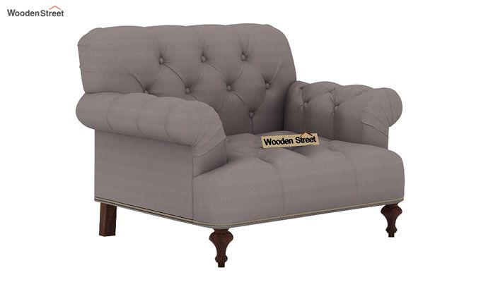 Allison 1 Seater Sofa (Fabric, Warm Grey)-1