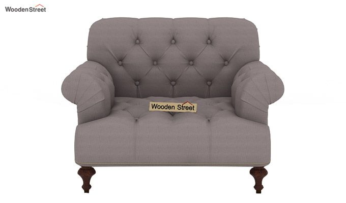 Allison 1 Seater Sofa (Fabric, Warm Grey)-2