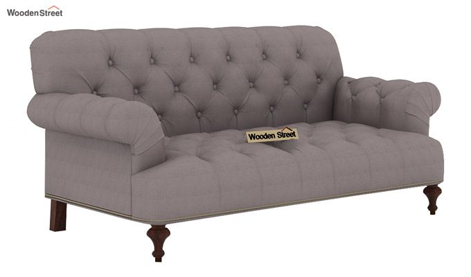 Allison 2 Seater Sofa (Fabric, Warm Grey)-1