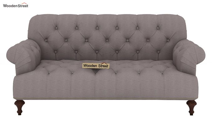 Allison 2 Seater Sofa (Fabric, Warm Grey)-2