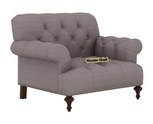 Allison 1 Seater Sofa (Fabric, Warm Grey)