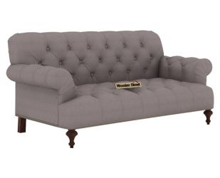 Allison 2 Seater Sofa (Fabric, Warm Grey)