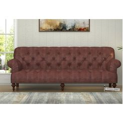 Allison 3 Seater Sofa (Leatherette, Dark Chocolate)