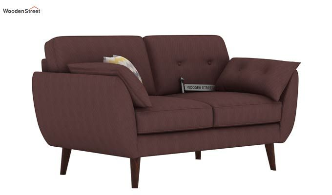 Angela 2 Seater Sofa (Fabric, Classic Brown)-1