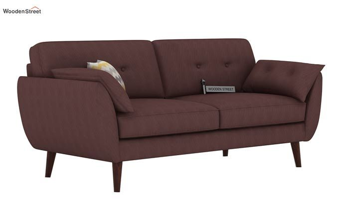 Angela 3 Seater Sofa (Fabric, Classic Brown)-1