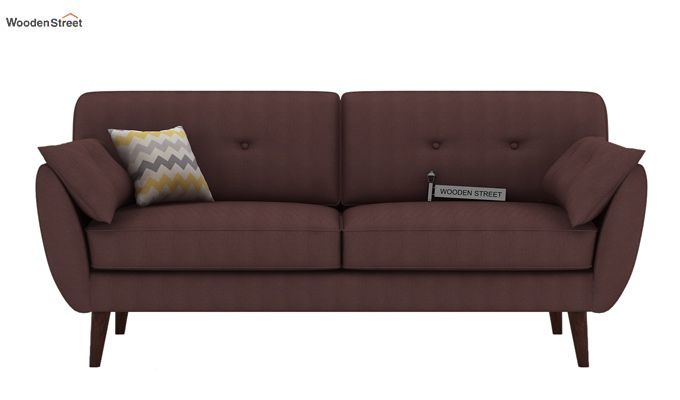 Angela 3 Seater Sofa (Fabric, Classic Brown)-2