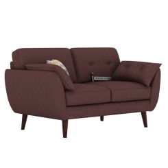 Angela 2 Seater Sofa (Fabric, Classic Brown)