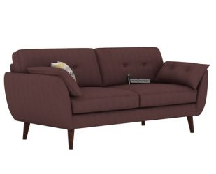 Angela 3 Seater Sofa (Fabric, Classic Brown)