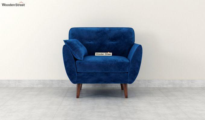 Angela 1 Seater Sofa (Velvet, Indigo Blue)-3