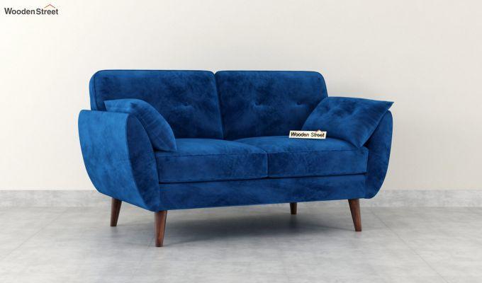 Angela 2 Seater Sofa (Velvet, Indigo Blue)-2