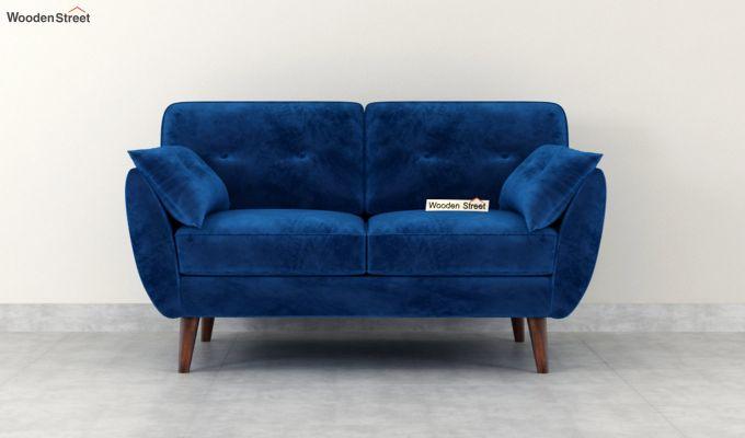 Angela 2 Seater Sofa (Velvet, Indigo Blue)-3