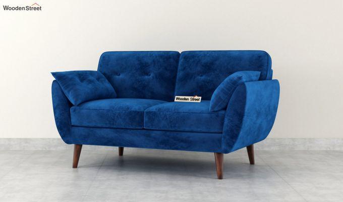 Angela 2 Seater Sofa (Velvet, Indigo Blue)-4