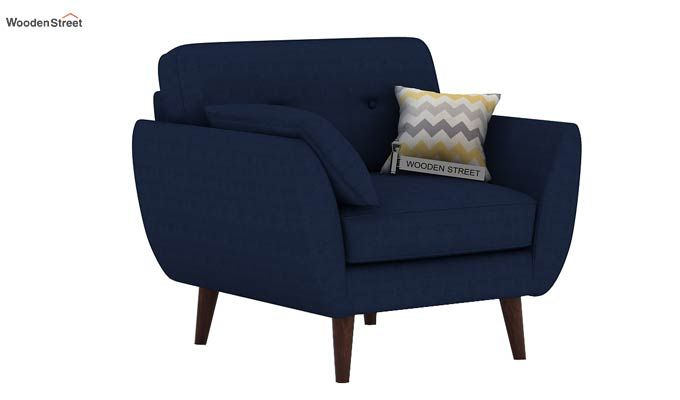 Angela 1 Seater Sofa (Fabric, Indigo Ink)-2