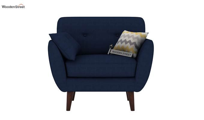 Angela 1 Seater Sofa (Fabric, Indigo Ink)-3