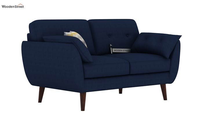 Angela 2 Seater Sofa (Fabric, Indigo Ink)-1