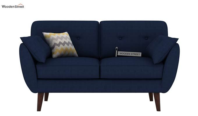 Angela 2 Seater Sofa (Fabric, Indigo Ink)-2