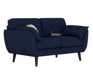 Angela 2 Seater Sofa (Fabric, Indigo Ink)