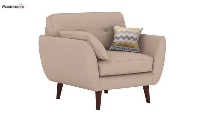 Angela 1 Seater Sofa (Fabric, Irish Cream)-1