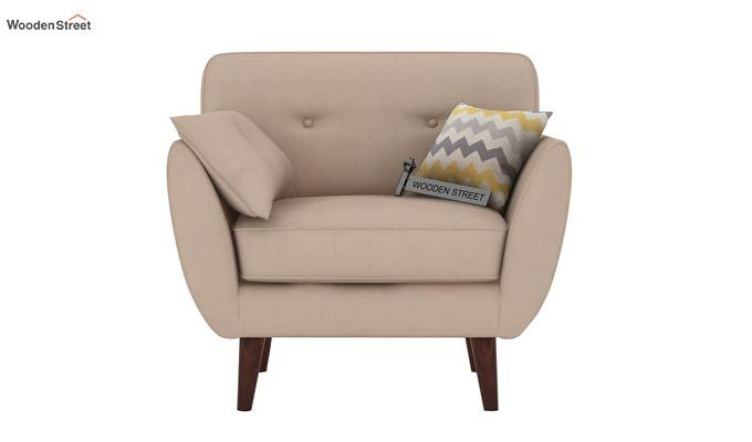 Angela 1 Seater Sofa (Fabric, Irish Cream)-2