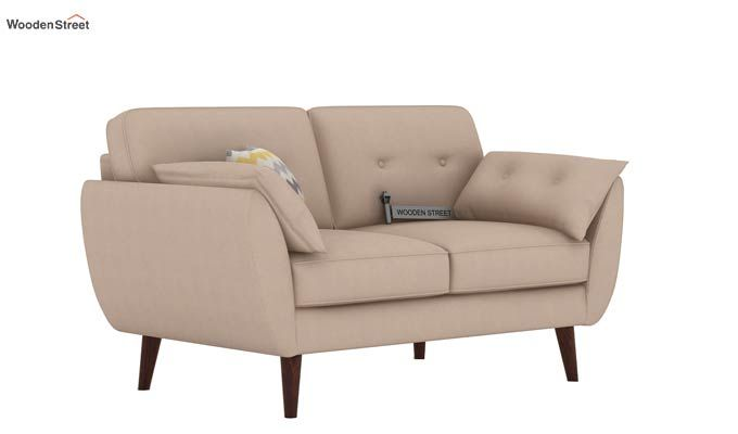 Angela 2 Seater Sofa (Cotton, Irish Cream)-1