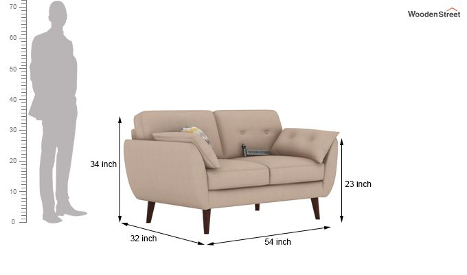 Angela 2 Seater Sofa (Cotton, Irish Cream)-3