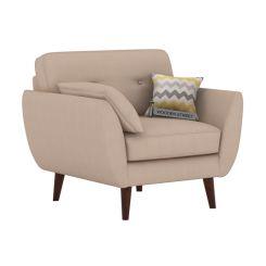 Angela 1 Seater Sofa (Fabric, Irish Cream)