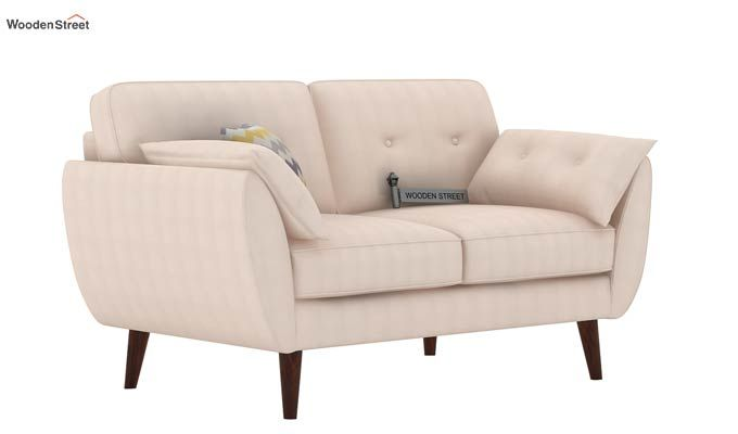 Angela 2 Seater Sofa (Cotton, Ivory Nude)-1