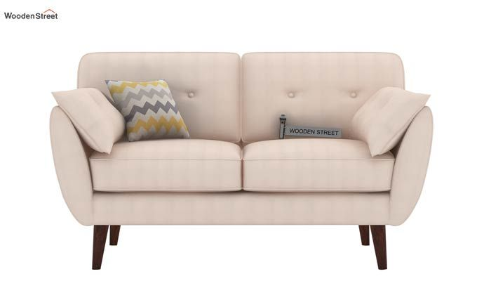 Angela 2 Seater Sofa (Cotton, Ivory Nude)-2