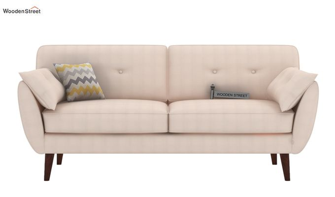 Angela 3 Seater Sofa (Fabric, Ivory Nude)-2