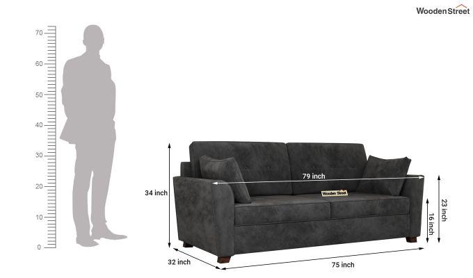 Archerd 2 Seater Sofa (Velvet, Graphite Grey)-11