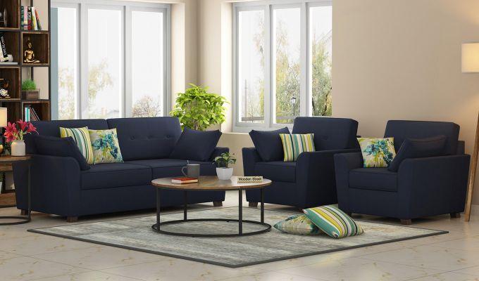 Archerd 2 Seater Sofa (Fabric, Indigo Ink)-9
