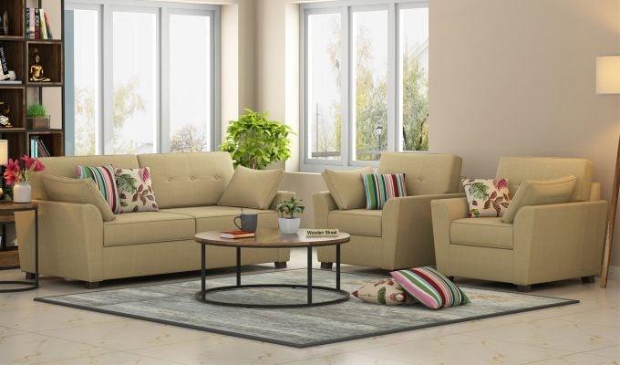 Amazing Buy Archerd 3 1 1 Sofa Set Fabric Irish Cream Online In India Wooden Street Pdpeps Interior Chair Design Pdpepsorg