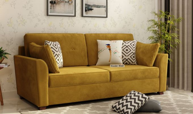 Archerd 2 Seater Sofa (Velvet, Chestnut Brown)-8
