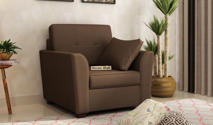 Archerd 2 Seater Sofa (Fabric, Classic Brown)-5