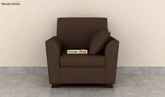 Archerd 2 Seater Sofa (Fabric, Classic Brown)-6
