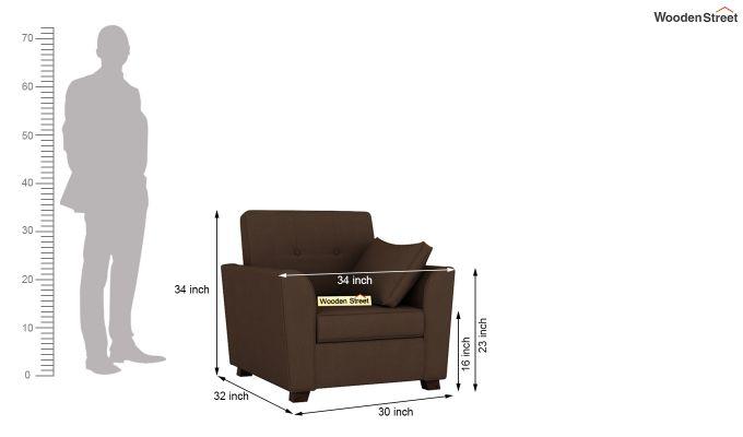 Archerd 2 Seater Sofa (Fabric, Classic Brown)-11