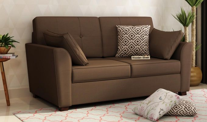 Archerd 2 Seater Sofa (Fabric, Classic Brown)-1