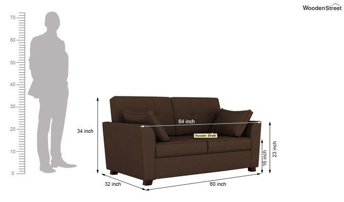 Archerd 2 Seater Sofa (Fabric, Classic Brown)-10