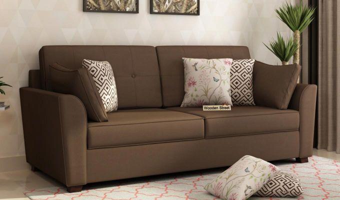 Archerd 2 Seater Sofa (Fabric, Classic Brown)-7
