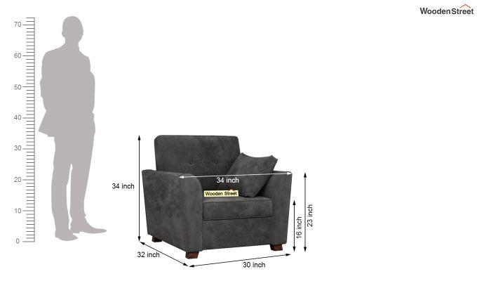 Archerd 2 Seater Sofa (Velvet, Graphite Grey)-9
