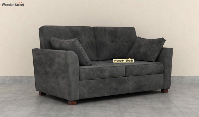 Archerd 2 Seater Sofa (Velvet, Graphite Grey)-1