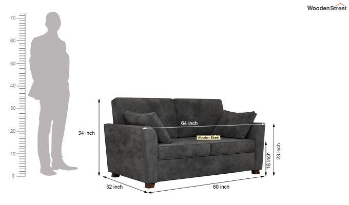 Archerd 2 Seater Sofa (Velvet, Graphite Grey)-10