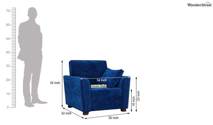 Archerd 2 Seater Sofa (Velvet, Indigo Blue)-9