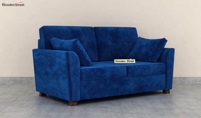 Archerd 2 Seater Sofa (Velvet, Indigo Blue)-2
