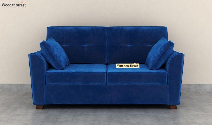 Archerd 2 Seater Sofa (Velvet, Indigo Blue)-3