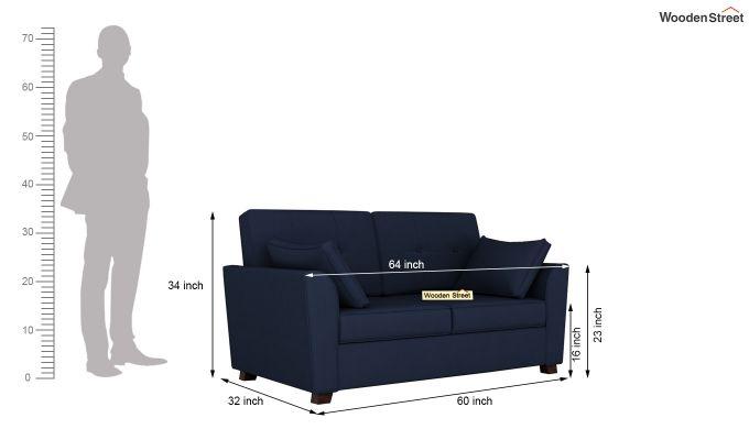 Archerd 2 Seater Sofa (Fabric, Indigo Ink)-11