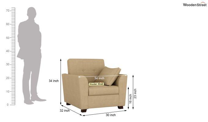 Archerd 2 Seater Sofa (Fabric, Irish Cream)-10